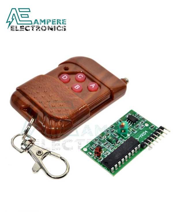 YK04 Wireless Remote Control Kit 4 Channel 315MHz